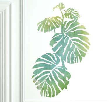 Naklejka ścienna zielone liście