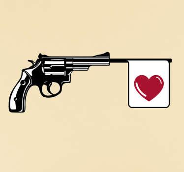 Vinilo decorativo disparo amor