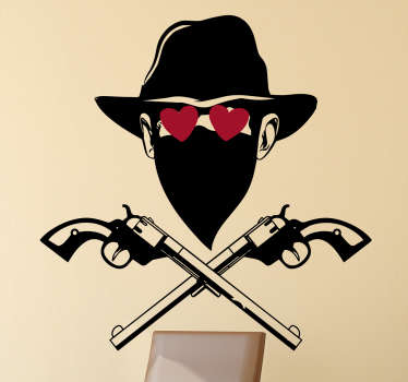 Wandtattoo Verliebter Bandit