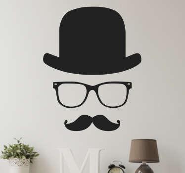 стикер стены джентльмена