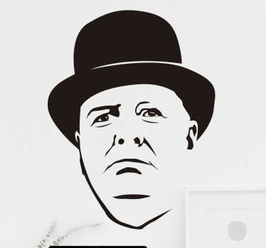 Muursticker Portret Winston Churchill