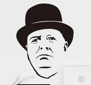 Sticker portrait Churchill