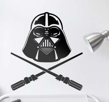 Darth Vader Pirate Sticker