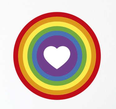 Sticker gay avec coeur