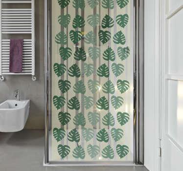 Naklejka na prysznic - Liście monstery
