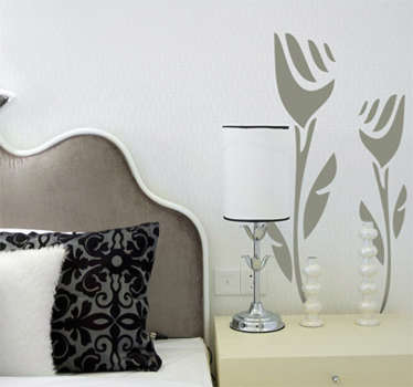 Two Abstract Roses Wall Sticker