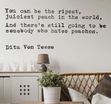 Adesivo murale citazione Dita Von Teese