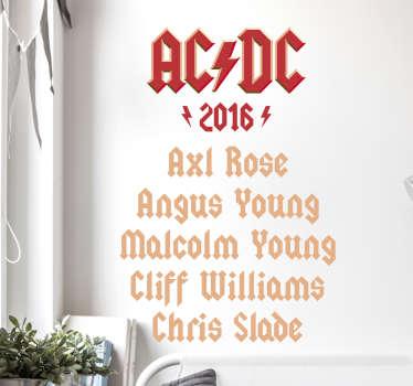 Adesivo murale ACDC 2016