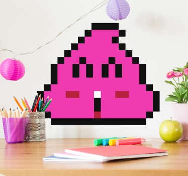 Adesivo decorativo Cacchina rosa Arale