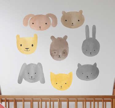 Sticker petits animaux