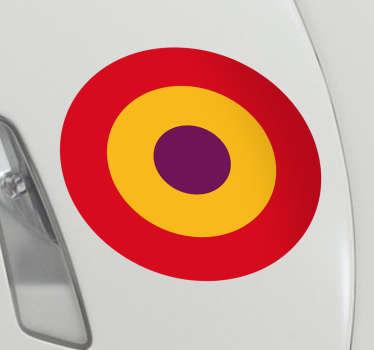 Pegatina Bandera España Republicana, ideales para decorar por ejemplo el maletero de tu coche o uno de sus laterales.