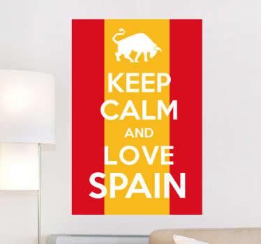 Adesivo murale Kepp Calm Love Spain