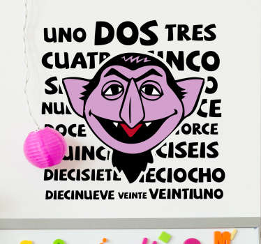 Vinilo Barrio Sésamo Drácula