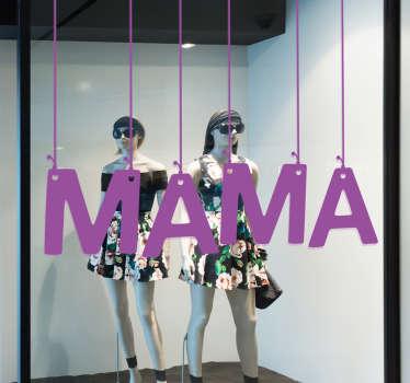 Naklejka Mama wystawa