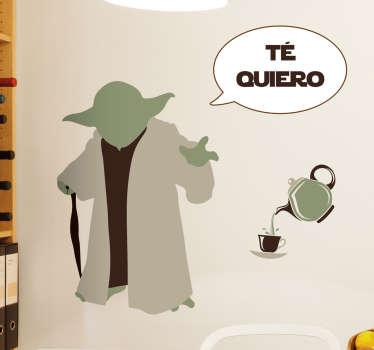Vinilo decorativo Yoda quiere té
