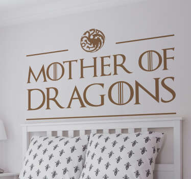 Autocolantes decorativos de programas de TV Mother Of Dragons