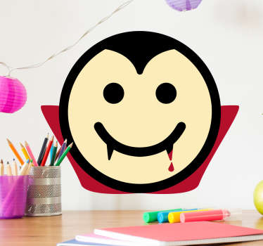 Sticker smiley heureux Dracula