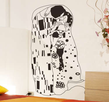 Klimt's 'The Kiss' Outline Sticker