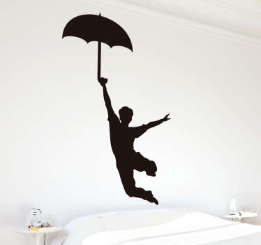 Decorative dance silhouette wall sticker to decorate any space with the touch of dance If you love dance art. It is available in any size required.