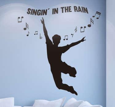 Vinilo perfil cantando bajo la lluvia