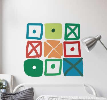 Stickers decorativi scaffali quadrati