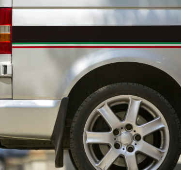 Sticker Vinilo bandas para coche bandera de Italia