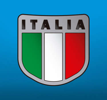 Decorative flag vinyl decal that represent Italy to decorate any flat surface of choice and in any required size. It is self adhesive.