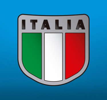 Adesivo bandiera italiana