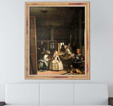 Vinilo arte que muestra la recreación de esta famosa pintura de uno de los pintores más famosos del siglo de oro español, Velázquez.