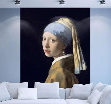 Wandtattoo Gemälde Mädchen mit dem Perlenohrring