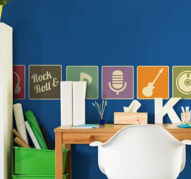 Sticker logos musique