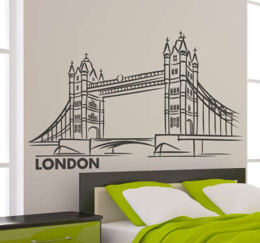 Wall sticker showing London Bridge Would you like to return to the capital of England? This wall decal will be perfect for you!