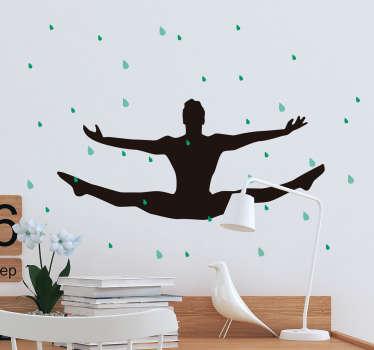 Adesivo decorativo Ballerino Sotto la Pioggia