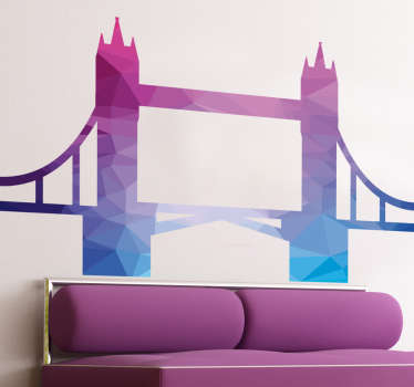 Multicoloured London Bridge Wall Sticker