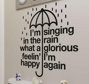 Vinilo letra canción cantando bajo la lluvia
