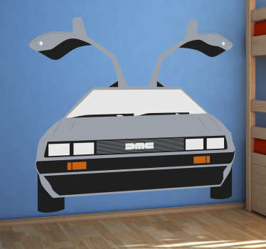 Naklejka Delorean DMC