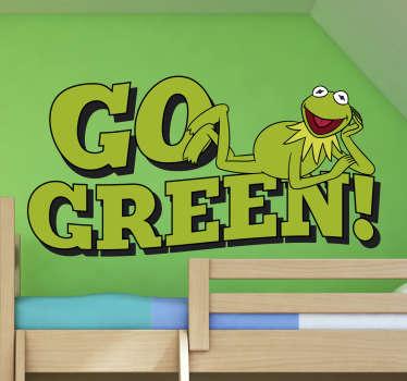 Naklejka Ulica Sezamkowa Go Green