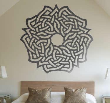 Adesivo floreale simbolo celtico