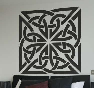 Vinilo decorativo símbolos celtas cuadrado