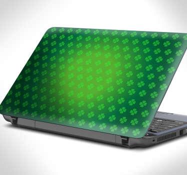 Laptop klistermærke, træ tekstur