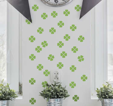 Decorative home wall sticker design of Celtic clove plant prints . It is available in different colour and size options.