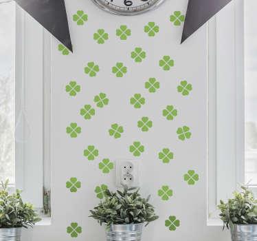 Sticker décoratif trèfles