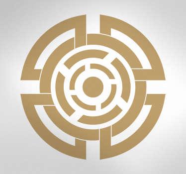 Adesivo murale simbolo celtico tondo