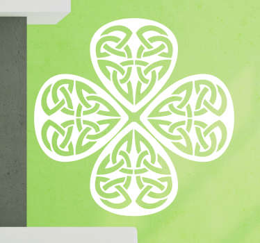 Celtic symbols clover shape abstract sticker decoration for any space. It is available in different colour and size options.