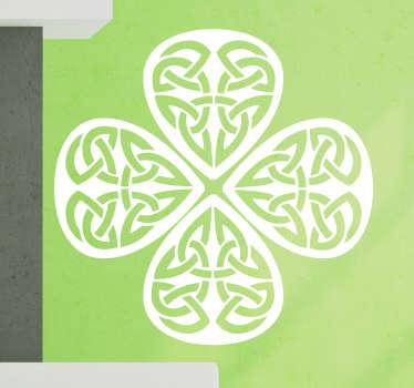 Sticker trèfle motifs celtiques