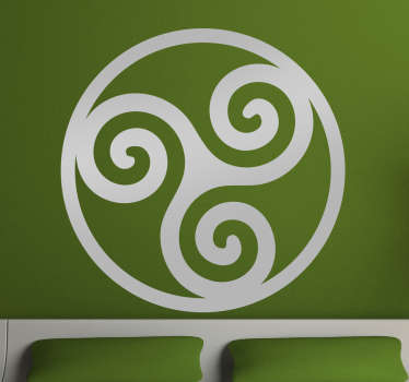 Decorative abstract wall sticker of Celtic symbol. It is easy to apply and it is available in different size and colour option.