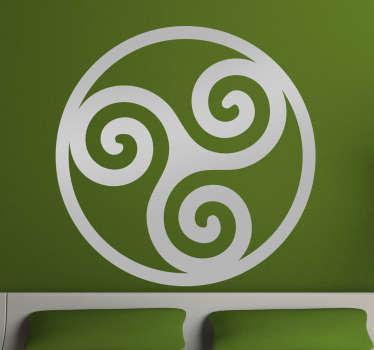 Symbolisk dekorativt klistermærke, Celtic Trisquel