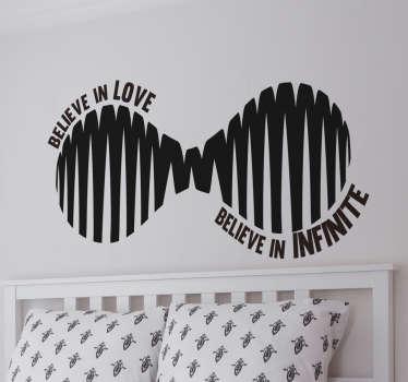 Autocolante acredite no Amor infinito