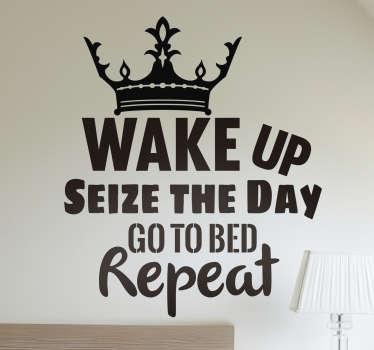 Seize the Day Decorative Wall Sticker