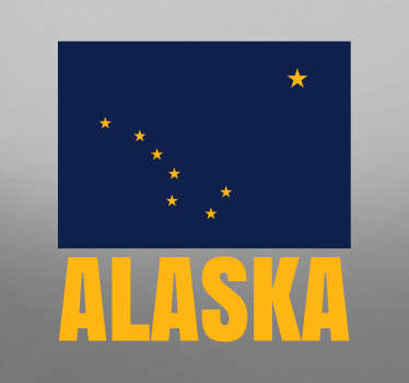 Location theme wall decal of Alaska.  This beautiful design is created with the text ''Alaska''. Beautify any space with it in any required size.